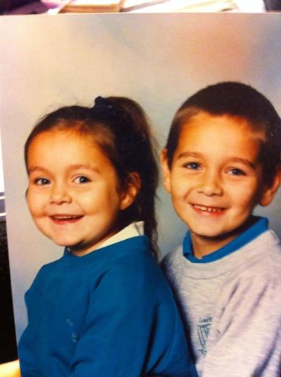 Me and my brother when we were little! Babies Best Cheeks Brotherandsister Cute Front View Lifestyles Looking At Camera Portrait Real People