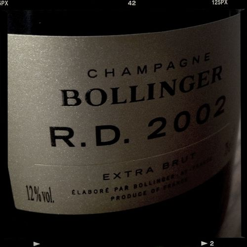 New delivery of the fabulous Bollinger R.D.'02 2002 BOLLINGER R.D   Aÿ   Champagne   France   Bollinger   60PN 40CH   BJpoints 94(96)   TASTING NOTE Disgorged 19th of Sep'13, 11 years sûr-lie. 23 crus, 71% grand cru & 29% 1er cru. Dosage 3 grams per litre. The Champagne Bar By Richard Juhlin Bollinger Champagne Champagne Club