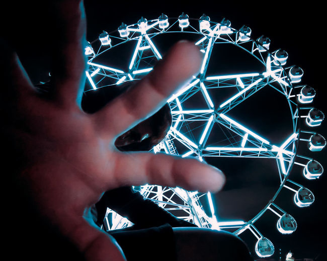 Digital composite image of hands
