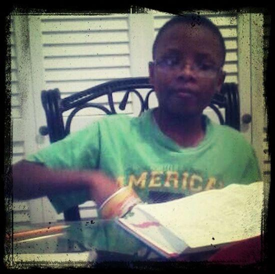 Chillin Wit My Bro Jay Doin Homework.!