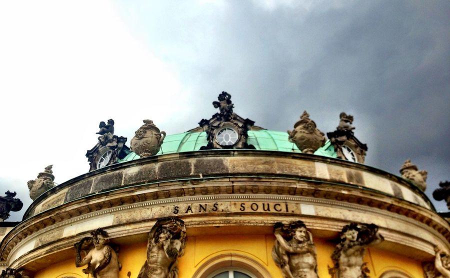 Architecture Building Exterior Famous Place Ornate Sans Souci Castle