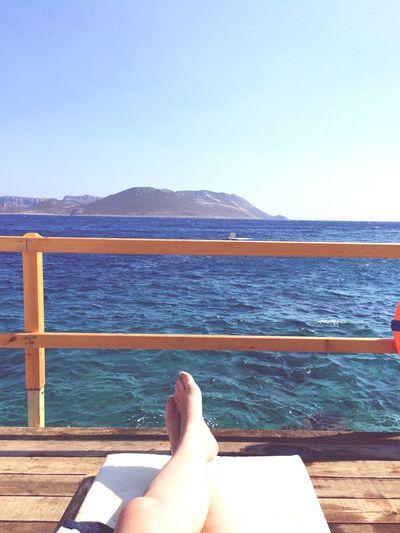 Summer Holiday Sea Sunbathing