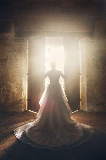 Groom Wedding Backlight Weddingdress Wedding Dress Bride Door First Eyeem Photo