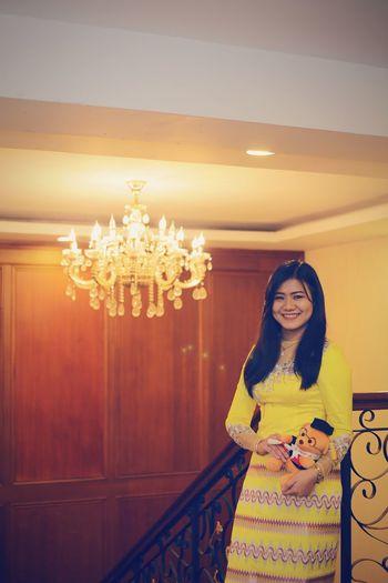 With myanmar dress❤@my sister graduation🎓