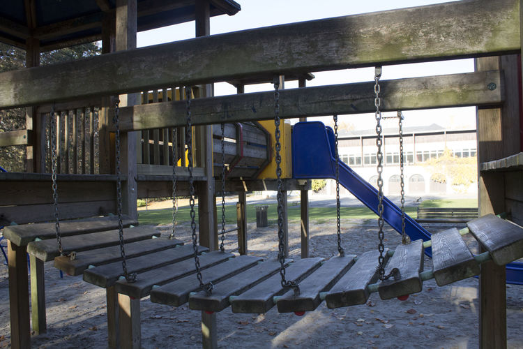 Day Outdoors Park No People Kids Playground Sand Autumn Empty Free Built Structure Absence