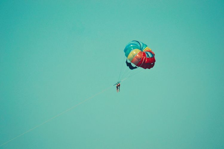Fly high and touch the sky! Fly High Touch The Sky Parachute Freedom Colors Colorful Colours Colour Of Life