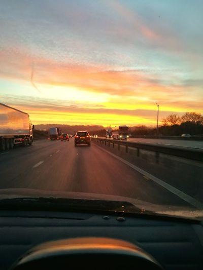 Sunset Car Dusk City Road Cloud - Sky No People Sky Romantic Sky Outdoors Close-up Day