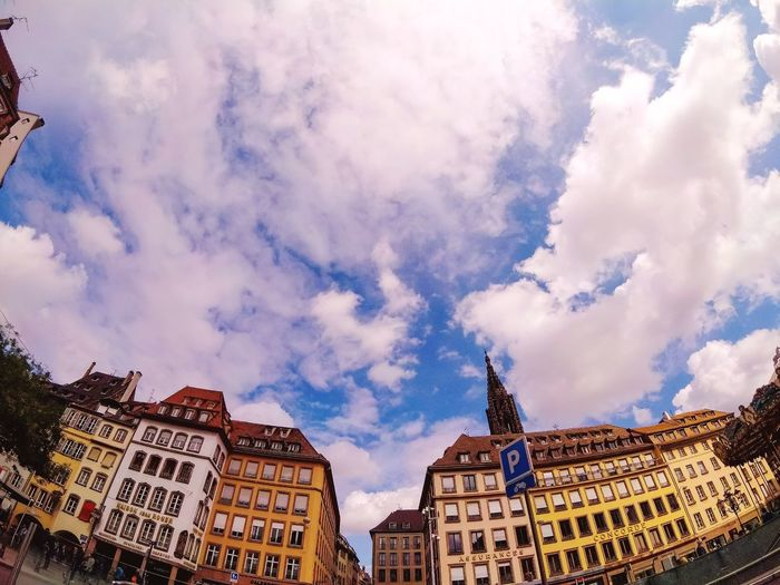 City vibes Architecture Cloud - Sky Travel Destinations Built Structure Outdoors Day No People Low Angle View Building Exterior City Sky Been There. Europe Trip Eurotrip European Union Strasbourg France