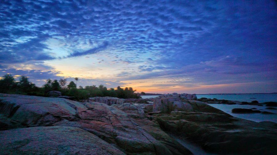 Rambak beach Sungailiat Bangka. Sunset Cloud - Sky Beauty In Nature Sky Sea Scenics Tranquil Scene Beach Outdoors Sunset Lovers Bangka Island INDONESIA