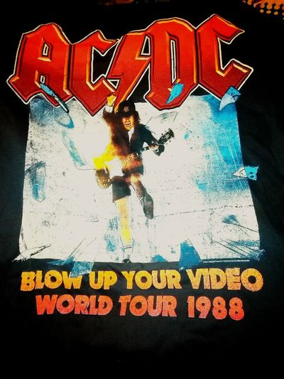 1988 Music T Shirt T-shirt T-shirts Acca/dacca AC/DC Tshirt T Shirts Blow Up Your Video Rock'n'Roll For Those About To Rock, We Salute You AC~DC World Tour Ac Dc  ACDC Tshirt♡ Tshirts T Shirt Collection Tee Shirt For Those About To Rock...we Salute You!!!  Rock N Roll Rock And Roll Acdctshirt Tshirtporn Bandshirt Tshirtcollection