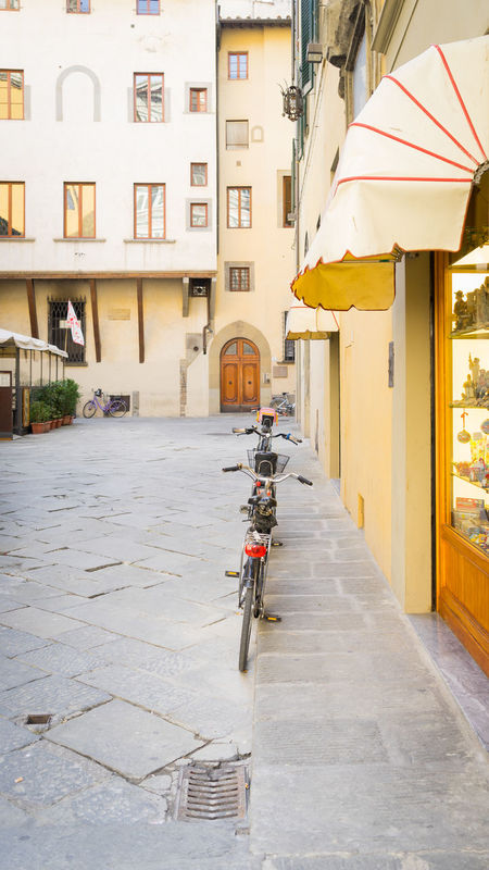 Alley Architecture Building Exterior Built Structure City City Life City Street Cycle Day Firenze Florence Florence Italy Italia Italy Leisure Activity Lifestyles Mode Of Transport Outdoors Residential Building Residential Structure Street