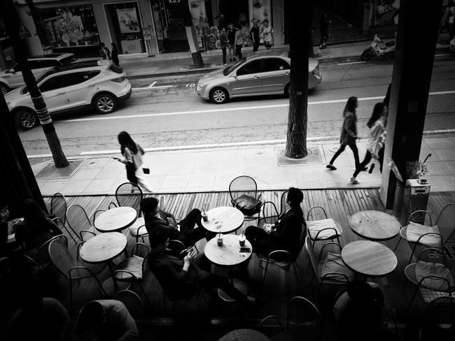 Watch out. Street Day City Seoul Coffee Time Chillout Hangouts  Friends Watching People