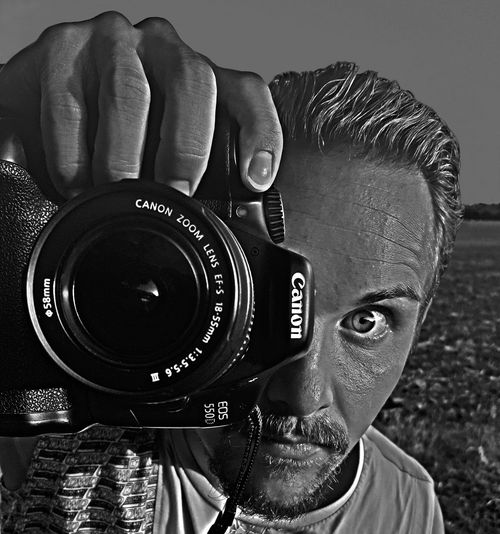 Click' ThatsMe Camera - Photographic Equipment Photography Themes Photographing Close-up Photographer SLR Camera Digital Single-lens Reflex Camera Person Human Body Part One Person One Man Only Lens - Eye Human Eye Check This Out EyeEm Best Shots Open Your Mind Eyes Wide Open Eye4photography  Portrait Portrait Of Myself Portraits Portrait Photography PortraitPhotography