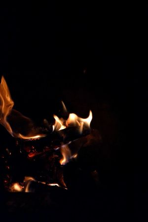 burning embers Ember Burning Flame Heat - Temperature Burning Night Black Background No People Close-up Fire Burning Wood Negative Space Bonfire Fire Pit