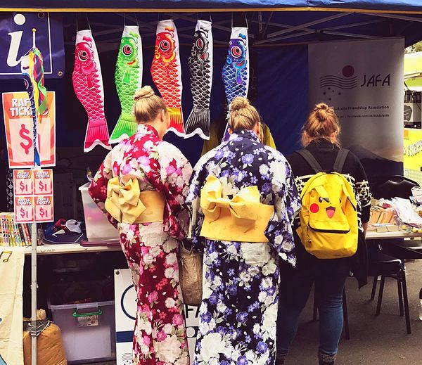 Taking Photos From My Point Of View People Japanese Culture Cultural Clothes Culture And Tradition Japanese Girl Festival Celebration Eye4photography  Stall Matsuri Kodomonohi Enjoying Life