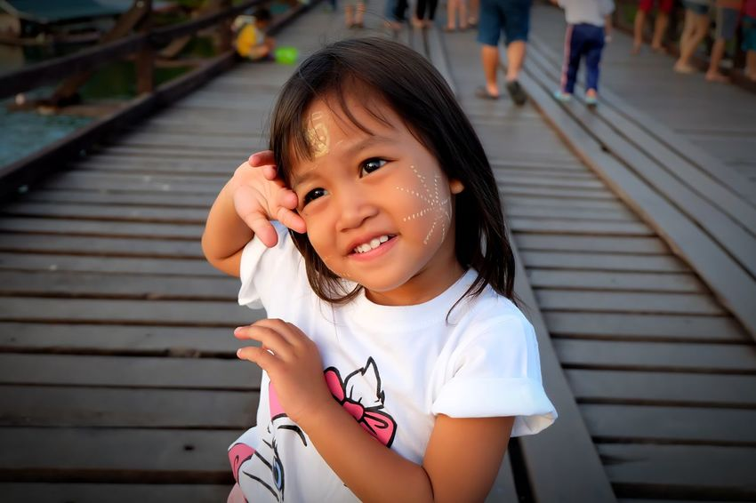 Myanmar girl EyeEm Selects Childhood Child Portrait Girls Females Women Real People Looking At Camera One Person Lifestyles Front View Cute Leisure Activity Casual Clothing Incidental People Smiling Innocence Day Focus On Foreground Hairstyle EyeEmNewHere
