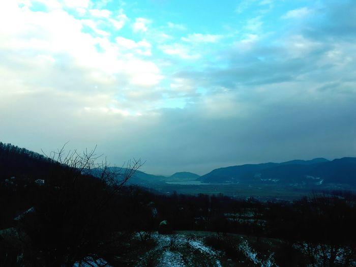 Piatra Neamț (România) viewed from Scâricica. Neamt Romania Winter