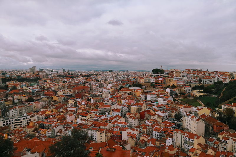 View from Sao Jorge castle Lisbon Lisboa Portugal Castelo De São Jorge São Jorge Castle Cityscape POV Panorama Landscape Huawei Huawei Mate 10 Pro Smartphonephotography Smartphone Little Boxes Sky Window Houses Architecture On Top Sunset Building TOWNSCAPE Residential District Residential Structure Aerial View Rooftop Town Exterior