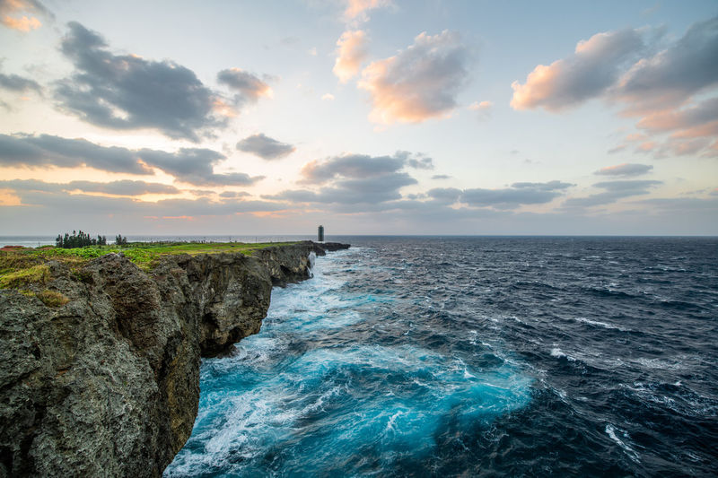 Sky Sea Water Beauty In Nature Horizon Over Water Sunset Horizon Tranquil Scene Nature Landscape Japan Okinawa Travel Traveling