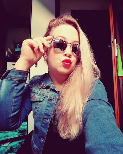 Hello World Hi! That's Me Polishgirl Selfie ✌ Nice Fallow Me Good Times Blonde Hair Happy People