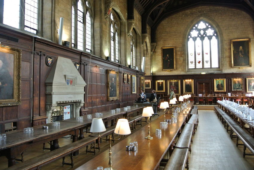 Oxford University Architecture Chair Dinner Room Indoors  No People Old Buildings Studying Table Window Nofilter