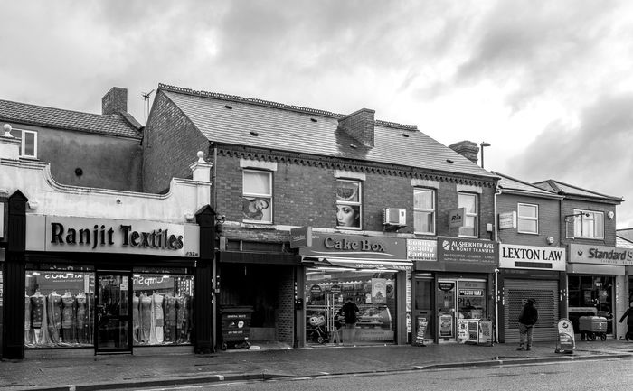 Shops, Foleshill Road, Coventry Coventry Black And White Blackandwhite Monochrome Street Rain Foleshill Road Urban Architecture Business Finance And Industry
