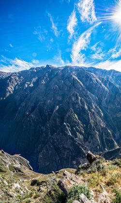 Amazing View Beautiful Nature Blue Sky Breathtaking Canyon Colca Canyon Landscape Panorama Peru South America Stunning Sun Travel Destinations Traveling EyeEmNewHere