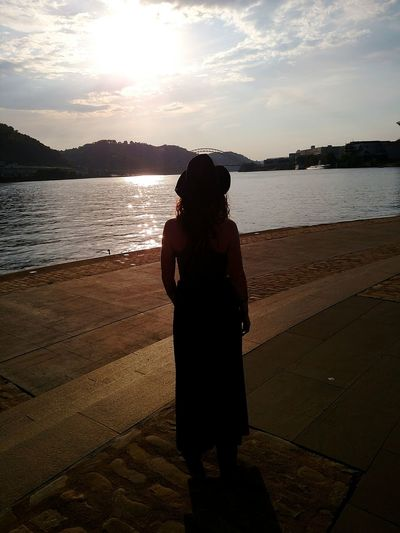 43 Golden Moments Exploring Pittsburgh Pennsylvania Colors Summer Beauty Sunlight Leisure Activity Lifestyles Beautiful Woman Reflection Water Girlswithtattoos Silhouette Mobile Photography Beautiful at Point State Park