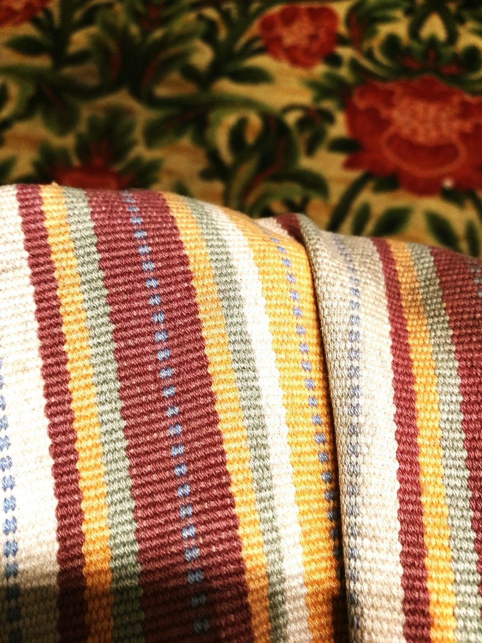 multi colored, textile, close-up, pattern, no people, indoors, day