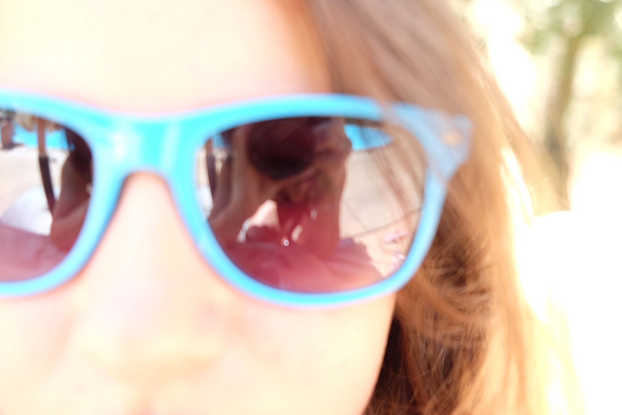 headshot, lifestyles, close-up, leisure activity, person, sunglasses, head and shoulders, portrait, looking at camera, focus on foreground, young adult, young women, indoors, front view, human face, day, girls