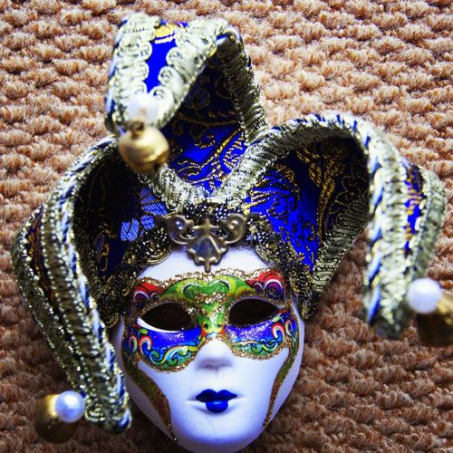 Close-up of venetian mask
