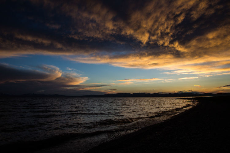 Kitsch Cloud - Sky Horizon Horizon Over Water Idyllic Nature Non-urban Scene Outdoors Scenics - Nature Sky Sunset Tranquil Scene Tranquility Water