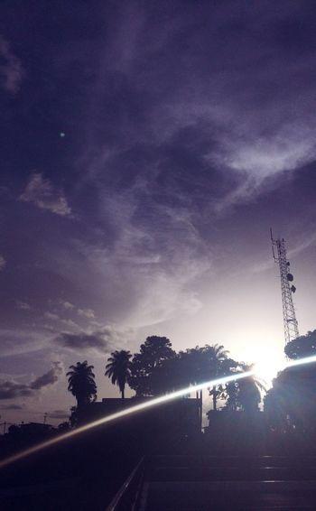 Trinidad Sunset Sunset Silhouettes Sunlight