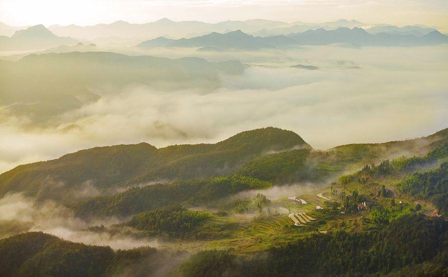 苍山如海 仙居之地 旅行 风光 日出 Zhejiang,China Sunrise Mountain 云海 Seas Of Clouds Wonderland