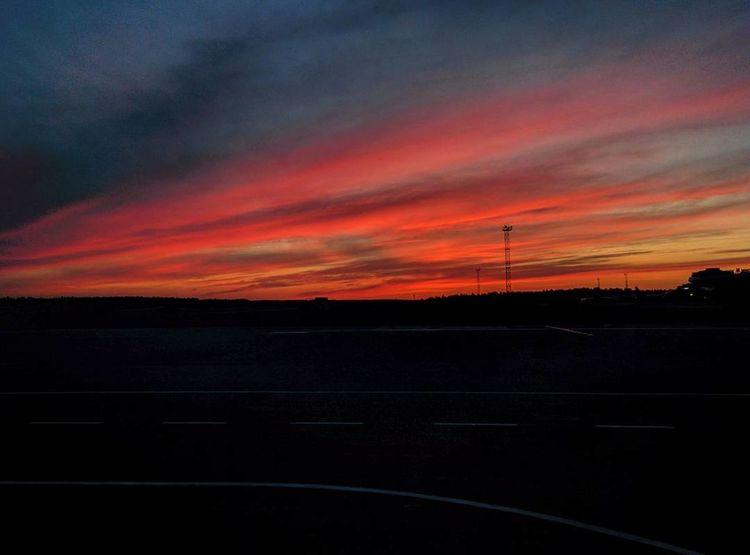 Sky Space Blue Sunset Night Airplane