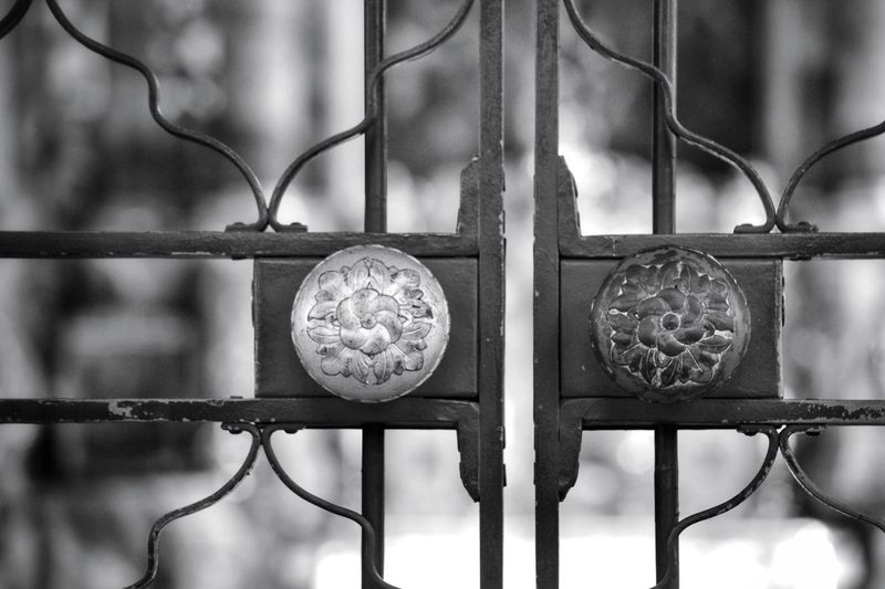 Metal No People Focus On Foreground Close-up Pattern Built Structure Backgrounds Architectural Detail The Week On EyeEm My Point Of View Taking Photos Monochrome Photograhy Black & White Photography Church Detail Church Architecture Gate Details Church Gate History Monochrome Photography Monochrome _ Collection Black & White Architecture First Eyeem Photo