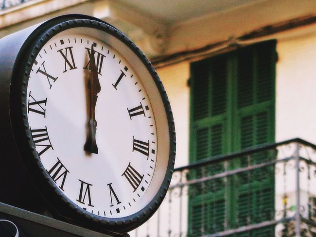 5 To 12 Alassio Beautiful Architecture Building Exterior Built Structure Clock Clock Face Close-up Day Digits Focus On Foreground Hour Hand Indoors  Italy Low Angle View Minute Hand No People Number Old-fashioned Outdoors Roman Numeral Selective Focus Time Vintage