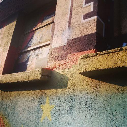 #morninglight #mural #outdoorart #paintedwal #sidelitgraffiti #wallart No People Shadow Sunlight
