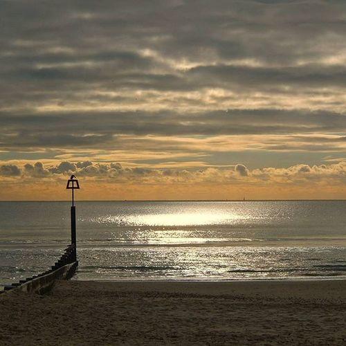 """ The Groynes "" Bournmouth Beach Sunnyday Wintersun Shoreline Reflection Clouds November Groynes Beachscene Seashore Sea Englishchannel Shotoftheday Cloudsofinstagram Cloudsoftheday"