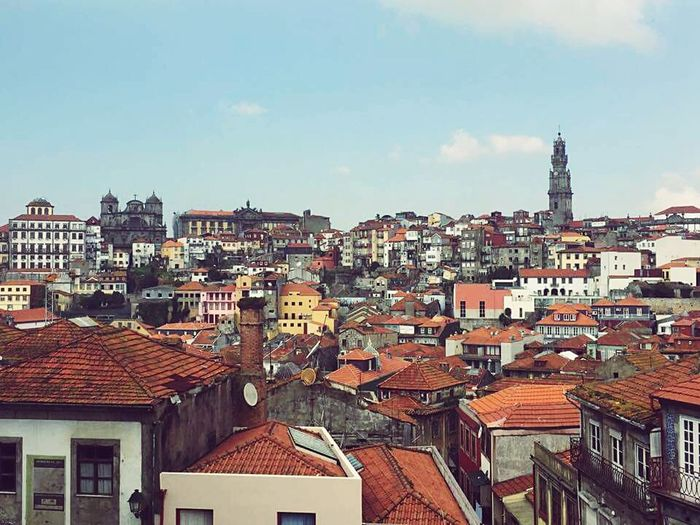 From beautiful Portugal Miles Away Porto Roof City Architecture Crowded Cityscape Building Exterior Built Structure Residential Building Urban Exploration Eye4photography  EyeEm Gallery EyeEm Best Shots Rooftop View  Travel Destinations Travel Photography Colourfull Building Terrace Viewpoint View From The Window...