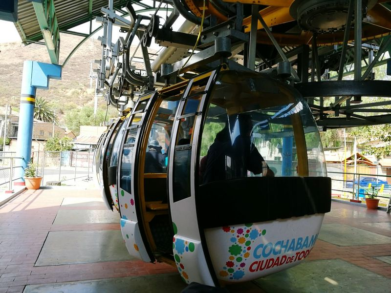 Teleférico in Cochabamba Transportation Cochabamba Cable Car Gondola Cristo Concordia Travel Journey Public Transport