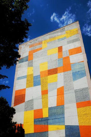 Architecture The Architect - 2015 EyeEm Awards Berlin Painted Houses Blue Sky Bluesky Schöneberg Colourful Colour Splash Colourfull