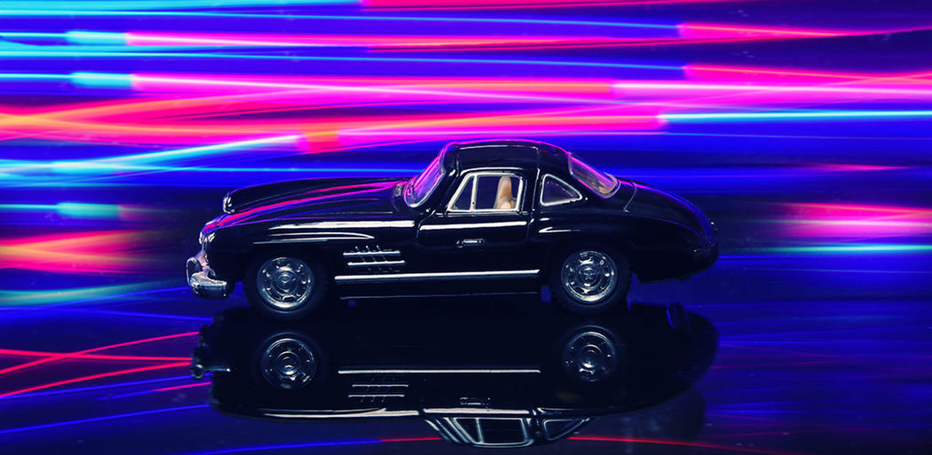 Mercedes vintage shoot.. Mercedes-Benz Vintage Cars Light Painting Photography. Black Cars Mercedes Sl