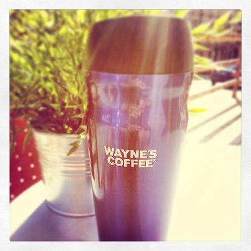 Ibland blir man trött av att ha lite för lite att göra på jobbet, piggapåsigkaffe... Waynes Kaffepaus