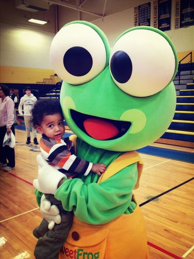 Sweet Frog! I Love This Picture So Much. This Is Why I Don't Mind Being The Mascot Sometimes!