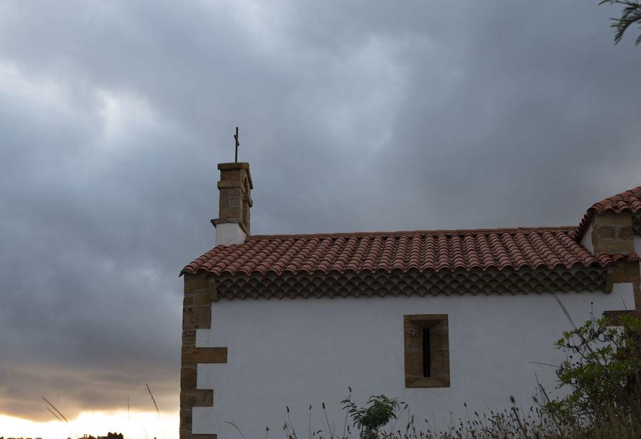 San Antonio de Padua chapel Architecture Asturias Chapel Cross Rural SPAIN Sunny Travel Awe Building Exterior Catholicism Coast Landscape Nobody Outdoors Religion Sky Summer Sunset Village
