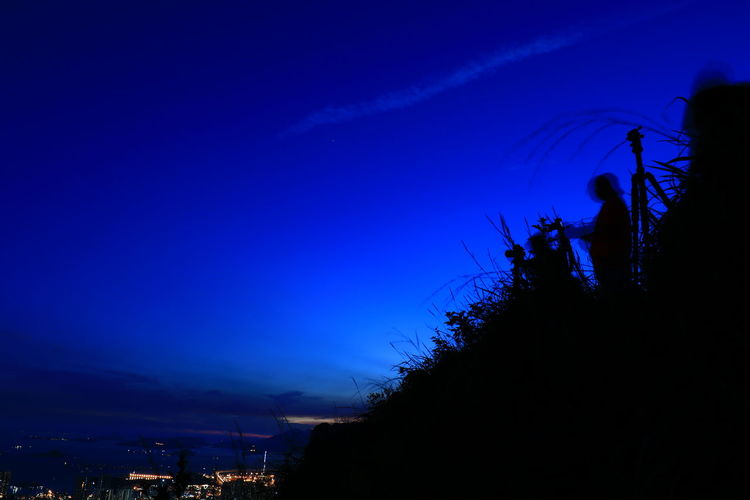 Silhouette Night Blue Hello World Tadaa Community Urban Skyline Canon Canonphotography 16-35mm F4L Discoverhongkong Lion Rock The Week On EyeEm Lost In The Landscape