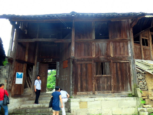 Attap House Centurycity Construction Site Discussion Field Inspection Heritage Huts Heritage Site Leisure Activity Lifestyles Men-at-work Old Buildings Photography In Motion Exploring New Ground China,Guizhou Residential Structure Building Exterior Buildingstyles
