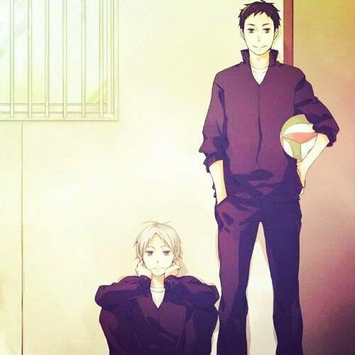 Anime Haikyuu Daichixsuga Suga sugawara cute manga volleyball sport
