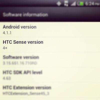 Officially running Android 4.1 Jellybean HtcEvo4glte HTCEvo htc winning